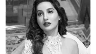 Nora Fatehi in This Elegant Pearl And Crystal Adorned Blouse Oozing Vintage Vibe