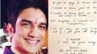 Sushant Singh Rajput's Handwritten Note Shared by Sister Shweta Brings Tears, Read on