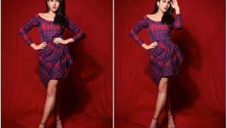 Sara Ali Khan Channeling All Fall Vibes in Check Printed Off-Shoulder Dress Worth Rs 36K, See PICS