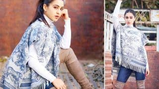 Sara Ali Khan Shows How To Do Winter Fashion Right In A Grey Christian Dior Pullover, Blue Jeans And Thigh-High Boots
