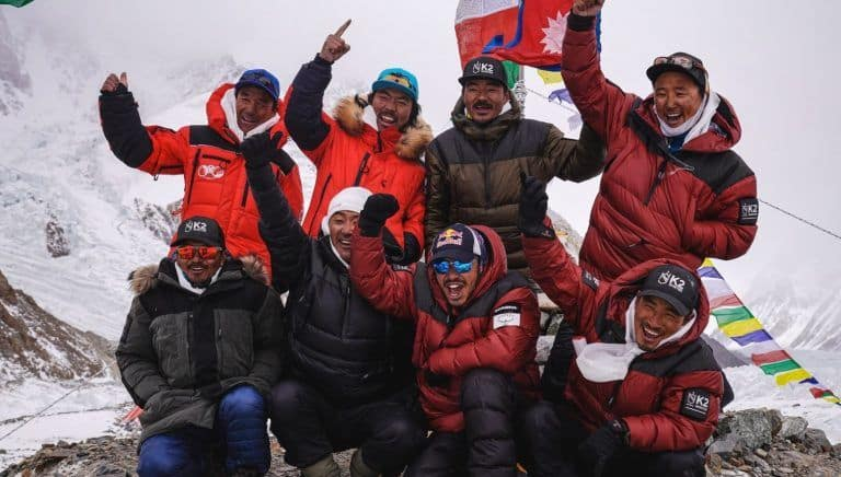 Nepali Mountaineers Record History, Scale World's Second 2nd Tallest Peak K2 in Winter