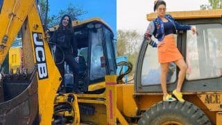 Sunny Leone Posts Picture of Her Standing on a JCB Machine, Brings 'JCB Ki Khudai' Back in Trend