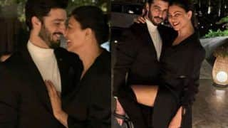 Sushmita Sen Strikes a Seductive Pose With Rohman Shawl, Shares Birthday Post For Her 'Babushhhh'