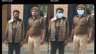 Gorakhpur Police Gets Trolled by Netizens for Photoshopping Facemasks on Constable and Murder Accused
