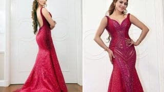 Urvashi Rautela Looks Exquisite In A Red Sequinned Gown By Michael Cinco Worth Whopping 32 Lakh