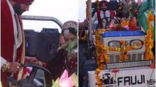 Newlywed Couple in Uttarakhand Ditch Car, Return Home From Wedding Venue on a Tractor to Support Farmers