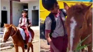 No Bus, No Problem! This MP Boy Rides a Horse Daily to Reach His School, Pictures Go Viral