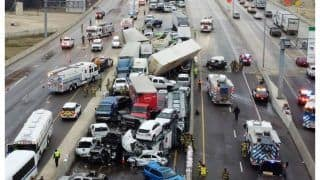 5 Dead In Massive Crash Involving Over 80 Cars On Icy Texas Highway   Video