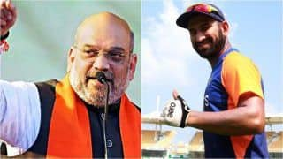 Amit Shah Wants Cheteshwar Pujara to Score Double Century And Help India Beat England in Pink-Ball Test at Narendra Modi Stadium