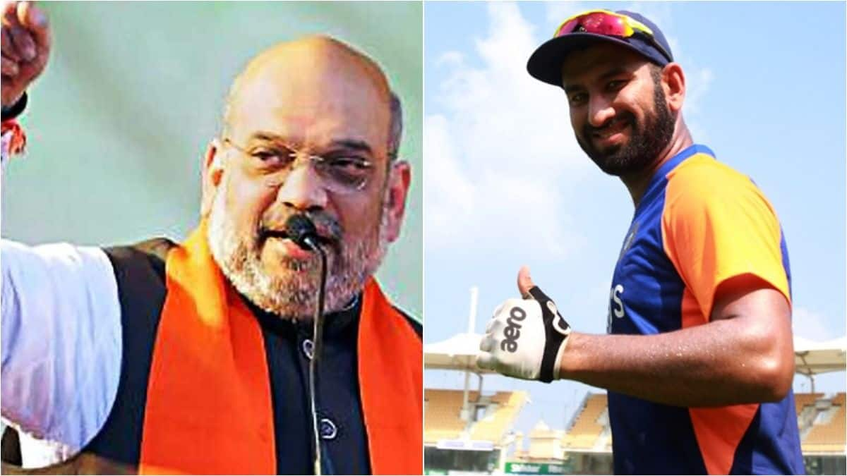 IND vs ENG 3rd test: Amit Shah Wants Cheteshwar Pujara to Score Double  Century And Help India Beat England Pink-Ball Test Motera | Indiacom cricket