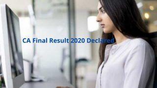 CA Final Result 2020 Declared: ICAI ने जारी किया CA Final 2020 का रिजल्ट, इस Direct Link से करें चेक