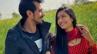 'Gori Teri Aankhein Kahen': Yuzvendra Chahal Shares Romantic Photo With Wife Dhanashree in Mustard Field