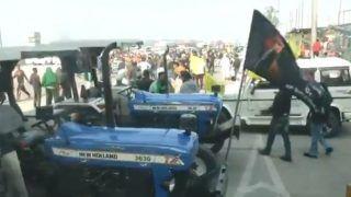 'चक्का जाम' के दौरान ट्रैक्टर पर दिखा 'भिंडरावाले' का झंडा, टिकैत बोले- गलत हुआ, ऐसा नहीं होना चाहिए