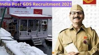 India Post GDS Recruitment 2021: Last Date to Apply Online For 1,421 Posts Today, Direct Link Here