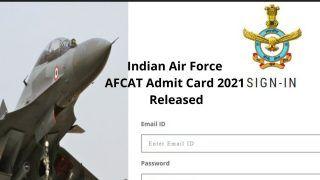 Indian Air Force AFCAT Admit Card 2021 Released: भारतीय वायुसेना ने जारी किया AFCAT 2021 का Admit Card, ये है डाउनलोड करने का Direct Link