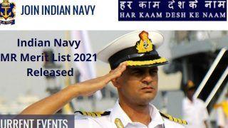 Indian Navy MR Merit List 2021 Released: भारतीय नौसेना ने जारी किया Indian Navy MR 2021 का मेरिट लिस्ट, इस Direct Link से करें चेक
