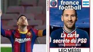 Lionel Messi to Join PSG? Barcelona Star Pictured in Paris Saint-Germain Shirt On Front Cover Of France Football Sparks Rumours