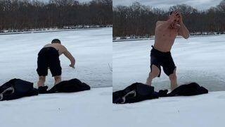 UFC Star Merab Dvalishvili Ends up in Hospital After Diving Headfirst Into Frozen Lake   Watch Video