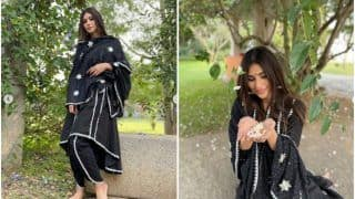 Mouni Roy is Magnificent in Rs 8,5000 Black Kurta and Pants Set, Fans Can't Stop Gushing