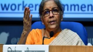 """वित्त मंत्री निर्मला सीतारमण का कांग्रेस पर हमला, """"सरकार की योजनाएं गरीबों के लिए हैं, न कि किसी 'दामाद' के लिए"""""""