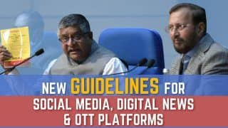 Explained: New Social Media, Digital News and OTT Platform Guidelines| Watch Video