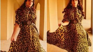 Nora Fatehi Oozes Oomph in a Leopard-Print Dress; Fans Can't Get Their Eyes Off Her!