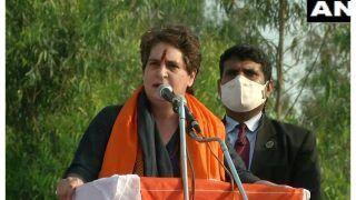 Priyanka Gandhi Vadra Addresses Kisan Mahapanchayat, Says Congress Will Scrap Farm Laws if Voted To Power