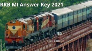 RRB MI Answer Key 2021 Released By Railway Board, Check Direct Link And Date Here