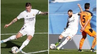 Real Madrid 2-0 Valencia: Karim Benzema, Toni Kroos Star as Los Blancos Edge Barcelona to Move to No 2 in LaLiga 2020-21 Points Table