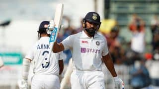 2nd Test: Ton-up Rohit Stars as India Score 300/6 Against England on Day 1 at Chepauk