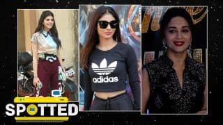 Spotted on February 17, 2021: Sanjana Sanghi Wearing Beautiful Abstract Prints|  Mouni Roy & More