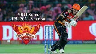 IPL 2021 Auction SRH Final List: Players Purchased by Sunrisers Hyderabad in Chennai