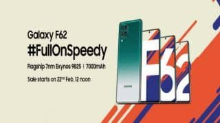Samsung Galaxy F62 With 7000mAh Battery, 64 MP Cameras Launched in India: Check Price And Specifications