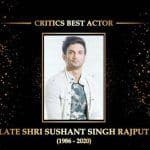 Dadasaheb Phalke Awards: Sushant Singh Rajput Honoured With Critic's Best Actor For His Contribution To Hindi Cinema