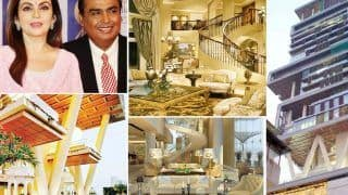 Inside Mukesh Ambani's House Antilia - 27-Storey Building With 3 Helipads, 6 Floors of Car Parking, And More