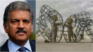 Anand Mahindra Posts Photo Of Beautiful Sculpture With Deep Meaning. See Viral Tweet