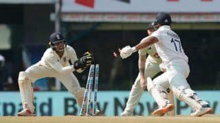 India vs England, 2nd Test: Cheteshwar Pujara Dismissed in Unlucky Fashion on Day 3 | WATCH VIDEO