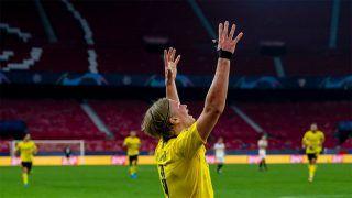 Erling Haaland of Borussia Dortmund Creates New Champions League Record as he Strikes Twice in 3-2 Win over Sevilla