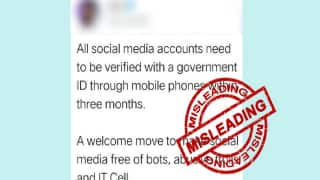 Fact Check: Will Social Media Accounts be Verified Through Phones in 3 Months? Know Truth Here