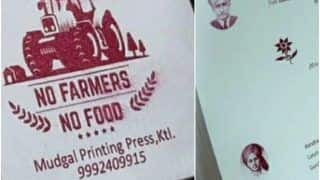 'No Farmer, No Food' Along With Photo of Bhagat Singh Printed on Wedding Card in Haryana