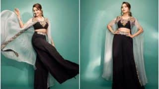 Madhuri Dixit 'Steps Up' in a Jazzy Black Fusion Outfit, Fans go 'Speechless'