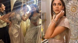 Mira Rajput in Rs 78,500 Metallic Saree Raises The Glamour Quotient in Her BFF's Wedding