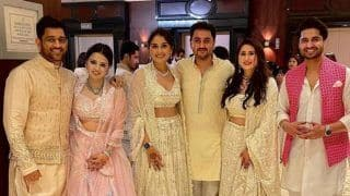 MS Dhoni And Wife Sakshi Attend Friend's Wedding, Set Social Media Ablaze in Ethnic Wear | See Pictures