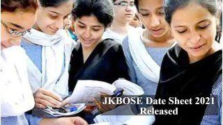 JKBOSE Date Sheet 2021 Released: जम्मू और कश्मीर बोर्ड ने जारी किया JKBOSE 2021 का डेटशीट, जानें एग्जाम को लेकर लेटेस्ट अपडेट