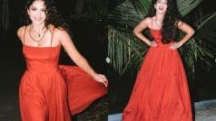 Sunny Leone ने Red बोल्ड ड्रेस पहनकर लगाई सोशल मीडिया पर आग, नहीं हट पाएंगी नजरें...Viral Pictures