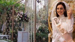 Dia Mirza Wedding: कुछ इस तरह सजा है दीयामिर्ज़ा का वेडिंग वेन्यू, Inside Videos हुईं Viral, दुल्हन है तैयार