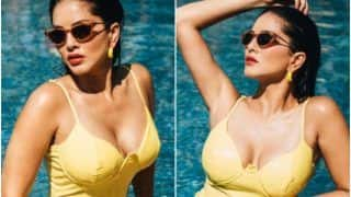 Sunny Leone Turns up The Heat in a Yellow Swimsuit on Monday Morning - 'Perfect Distraction,' Says Fans