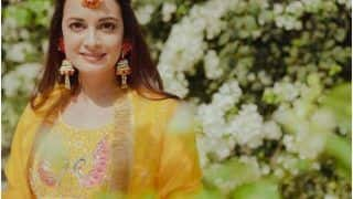 Dia Mirza Shares Stunning Pictures From Her Mehendi, Wears a Sunny Bright Suit - See Pics