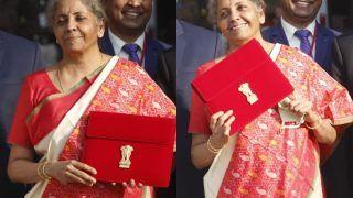 FM Sitharaman Laal-Paad Saree: बजट पेश करने के लिए वित्त मंत्री सीतारमन ने पहनी लाल पाड़ साड़ी, जानें बंगाली कनेक्शन!