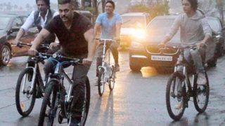 Throwback Tuesday! When Shah Rukh Khan, Salman Khan Cycled Through Streets of Mumbai